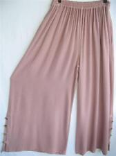 TIENDA HO~Lt Dusty Rose~MOROCCAN COTTON PALAZZO  PANTS~Lagenlook~Free/OS (M-1X?)