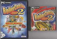 Roller coaster Coaster 2 + ADDON wacky worlds collection jeux pc