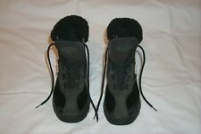 Tecnica Womens Black Fur Snow Winter Boots SZ 37 . US 6.5