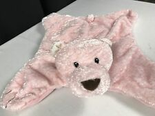 Baby Gund Comfy Cozy - PINK Plush Bear Satin Paws - Girls Security Blanket Lovey