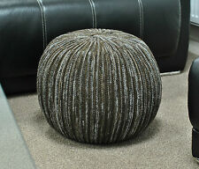 Knitted Round Beanbag Foot Stool Rest Pouffe, Gaming Seat. Beans Included.
