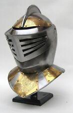 GOLDEN KNIGHT ARMOR HELMET-  MEDIEVAL COSTUME ~ MEDIEVAL KNIGHT CRUSADER SPARTAN