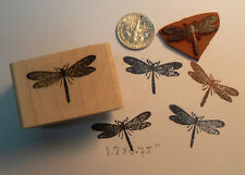 "P11 Tiny Dragonfly rubber stamp 1"" x0.4 WM Miniature"