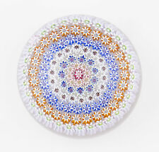 Perthshire PP4 millefiori glass paperweight with six concentric circles of canes
