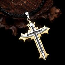 Hot Men's Stainless Steel Chain Cross Pendant Necklace 24 inches