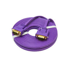 Slim Flat VGA Cable 25ft Cord Wire SVGA Extension Lead for Computer Monitor PC