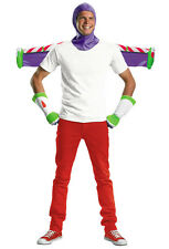 DISNEY TOY STORY BUZZ LIGHTYEAR ADULT COSTUME KIT GLOVES HOOD JET PACK 3 PC