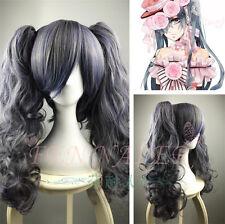 Black Butler Kuroshitsuji CIEL long Phantomhive +Ponytail Cosplay Wig Anime +CAP
