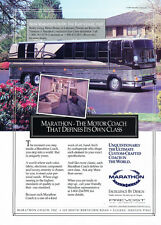 1991 Marathon Coach Inc. Bus Motorhome Original Advertisement Car Print Ad J315