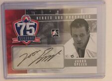 2010-11 Heroes And Prospects Jason Spezza Auto 75 Seasons In The Game 10/11