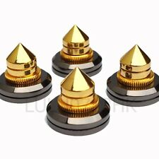 4x Spike Cone 4x Black Pad Base Isolation Improved Sound Kit Set Audio Speaker B