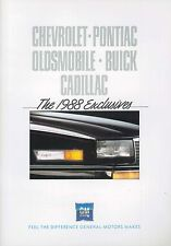 1988 EXCLUSIVES CHEVROLET,OLDSMOBILE,BUICK PROSPEKT BROCHURE CATALOGUE ENGLISCH