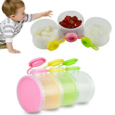 Newest 3 Layers Portable Baby Milk Powder Dispenser Boxes Container Food Storage