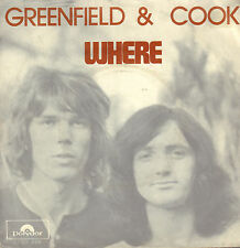 "GREENFIELD & COOK - Where (1972 NEDERPOP VINYL SINGLE 7"")"