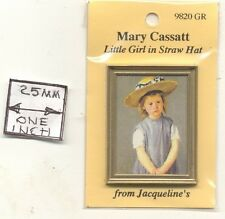 "Painting ""Little Girl in a Straw Hat"" Mary Cassatt  miniature 1/12 scale 9820GR"