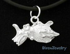 SOLID 925 Sterling Silver CUTTLEFISH * Sealife Ocean Marine Charm Necklace