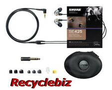 Shure SE425-CL Clear Ear Buds / Earphones IEM Headphones Earbuds SE425 Free Ship