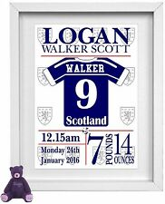BABY BOY NAME | Personalised Picture | Scotland | Football | FREE POST | (NP080)