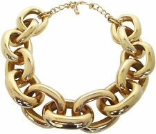 Kenneth Jay Lane Gold Tone Oval Large Chunky Link Necklace