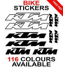 KTM decals stickers sheet (cycling, mtb, bmx, road, bike) die-cut