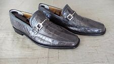 RARE! $1000+ MEZLAN Gray Green Genuine Crocodile Alligator Loafers Boots Shoes