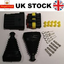 6 Pin Way Superseal TYCO AMP Waterproof Connector Electrical Kit and Rubber Boot