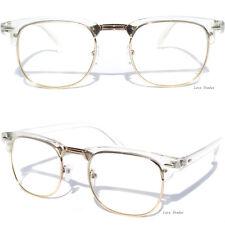 Men's or Women Half Frame Clear Lens EYE GLASSES Transparent Crystal Half Top