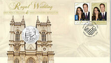 2011 ROYAL WEDDING PRINCE WILLIAM & CATHERINE MIDDLETON  50C COIN PNC COVER