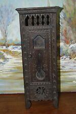 Jouet Ancien. Mobilier Breton de Poupées, Cabinet, Caisse d'horloge.