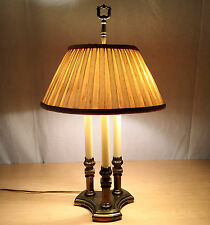 Vtg Stiffel Hollywood Regency French Bouillotte 3 Arm Acanthus Leaf Candle Lamp