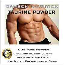 TAURINE POWDER 100g UNFLAVOURED PHARMA GRADE PREMIUM QUALITY AVAILABLE