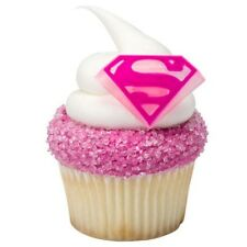 Cake Decorating Cupcake Ring Toppers - Supergirl (Superman) Shield