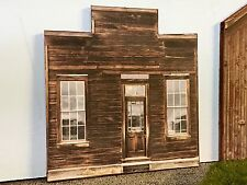 "O Scale Scratch Built ""SHANTY"" Rural Farm Country Building Front/Flat MTH Lionel"