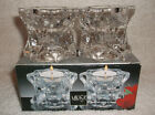 MIKASA (2) SPARKLING STAR CRYSTAL GLASS TEALIGHT OR TAPER CANDLE HOLDERS