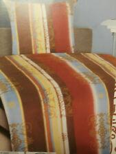 Microfaser Set Bettwäsche m. Reißv. Garnitur 135x200, 80x80 Polyester braun edel