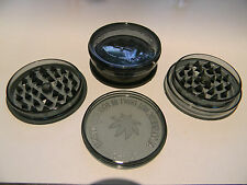 HERB GRINDER No1 BLACK MAGNETIC 3 PART SHARK TEETH   BUY 2 GET 1 FREE
