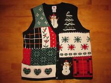 WINNING UGLY TACKY CHRISTMAS SWEATER SNOWMAN VEST MEN OR WOMENS SIZE 1X