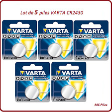 Lot 5 piles boutons CR2430 3V lithium Varta, livraison rapide et gratuite