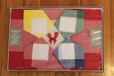 Vintage Retro Red Check Table Cloth & 4 Napkins New In Box, Dunmoy Ireland