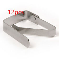 12pcs Stainless Steel Tablecloth Table Cover Clips Holder Clamps Party Picnic