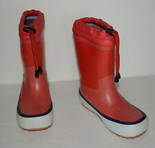 TRETORN RED RUBBER INSULATED SLIP ON FALL/WINTER BOOTS BOYS SZ 33/US 2 *GUC*