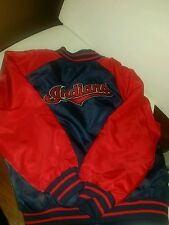 Cleveland indians baseball fabs team jacket size 5/6 blue and red reversable.