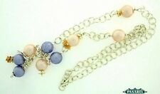 Sterling Silver Gold-Filled Coated Pearl Bead Necklace