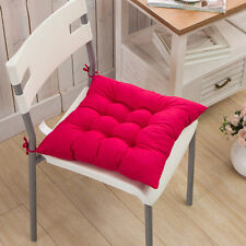 COLOURFUL SEAT PAD DINING ROOM GARDEN KITCHEN OFFICE CHAIR CUSHIONS WITH TIES