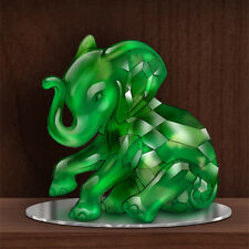 Matriarch of the Green Jadeite Rarest Gems Elephants of the World Figurine