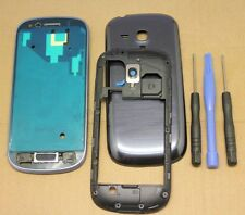 COQUE COMPLET REMPLACEMENT FACADE CHASSIS PR SAMSUNG GALAXY S3 MINI i8190 BLEU