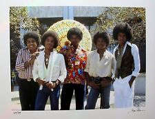 THE JACKSON FIVE Hand Signed Photograph by GREGG COBARR Michael Jackson