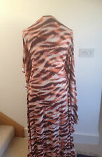 Printed Abstract Tiger on Polyester/Elastane 2 way Stretch ITY Jersey Fabric