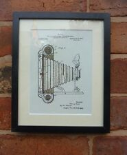 USA Patent Drawing vintage CAMERA COLOUR color photography MOUNTED PRINT 1920