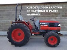 KUBOTA L3300 L 3300 DT PARTS & OPERATIONS MANUALs 425pg for Tractor Service